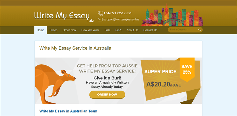 Australia.writemyessay.biz review – Rated 3.1/10