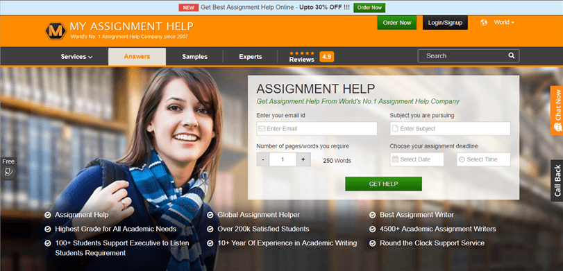 top n writing services of rankings reviews myassignmenthelp com review rated 2 3 10