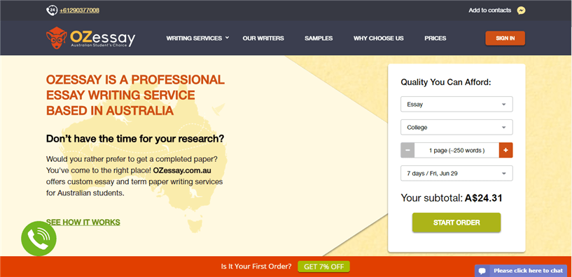 Ozessay.com.au review – Rated 4.1/10