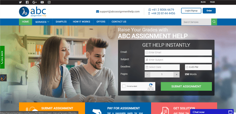 Abcassignmenthelp.com review – Rated 3.5/10