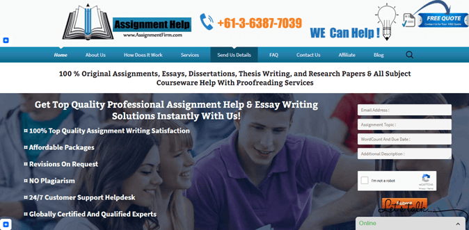 Assignmentfirm.com review – Rated 2.6/10