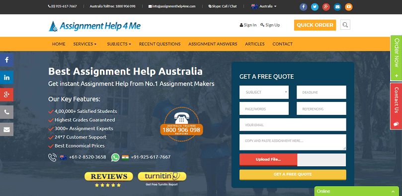 Assignmenthelp4me.com review – Rated 4.4/10