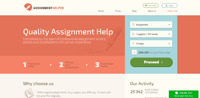 Assignmenthelper.com.au review – Rated 4.3/10