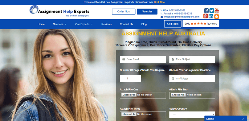 Assignmenthelpexperts.com review – Rated 4.5/10