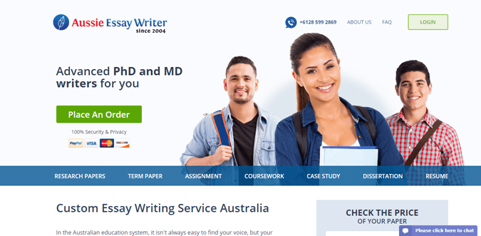 Aussieessaywriter.com.au review – Rated 2.9/10