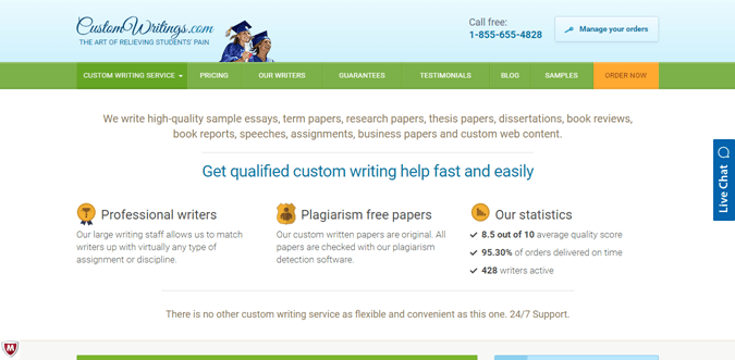 top n writing services of rankings reviews customwritings com review rated 4 9 10