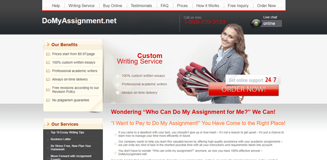 Domyassignment.net review – Rated 3.1/10