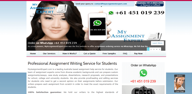 Myassignmentexpert.com review – Rated 2.5/10