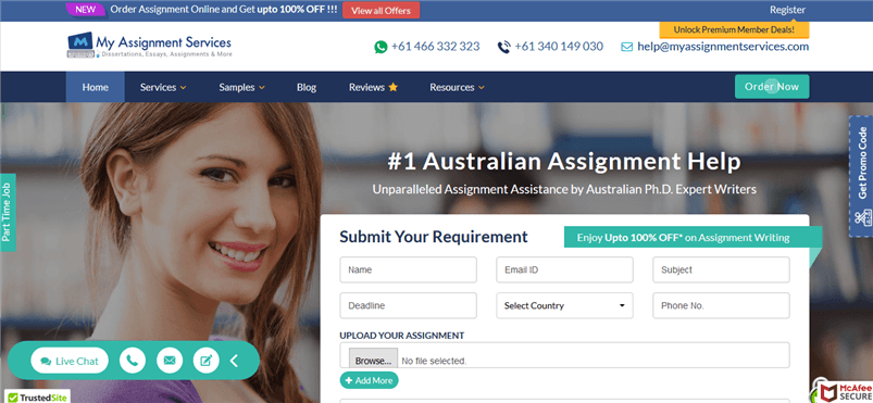 Myassignmentservices.com review – Rated 3.4/10