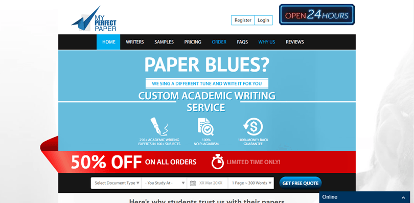 Myperfectpaper.net review – Rated 5.1/10