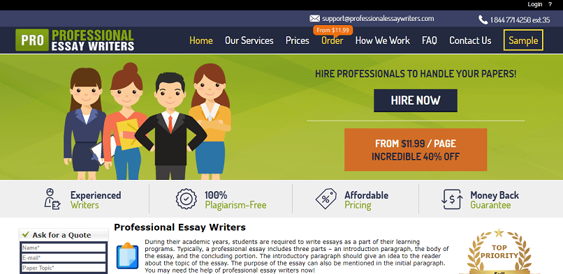 Professionalessaywriters.com review – Rated 4.9/10