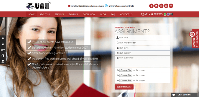 Uniassignmenthelp.com.au review – Rated 3.8/10